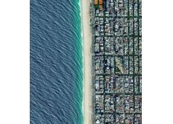 景觀,肖像顯示,海灘,里約熱內盧,巴西,鳥瞰圖,建造,市,屋,海44996
