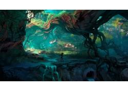 視頻游戲,景觀,世界末日,暗黑血統3,樹木,藝術品,暗黑血統578028
