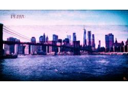 紐約市,VHS,vaporwave,Photoshop中,故障藝術,景觀606614