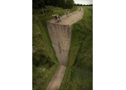 男人,景觀,光學錯覺,肖像顯示,泥路,自行車,超現實主義,籬笆,樹木