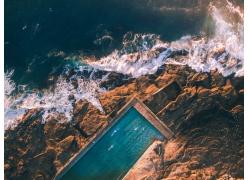 水,岩,鸟瞰图,景观,海,游泳池575741