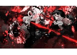 动漫,东方,Remilia猩红色,Flandre猩红色,Izayoi Sakuya,小恶魔,