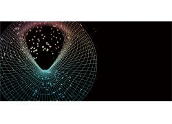 电子科技信息几何图形元素彩色效果背景