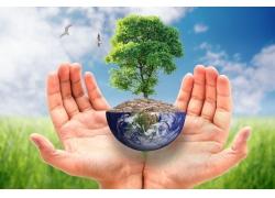 绿色环保海报背景