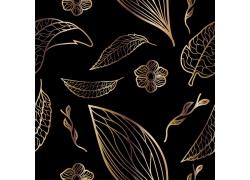 金色花纹底纹背景