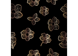 金色花朵背景