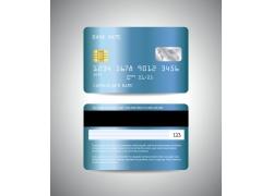 蓝色银行卡设计