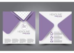 紫色几何画册
