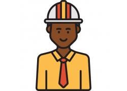建筑工人图标