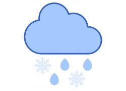 雪花雨水图标