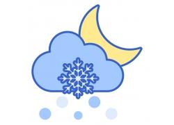 雪花月亮图标