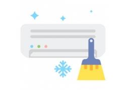 扫把雪花空调图标