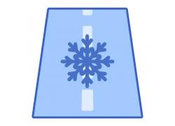 公路雪花图标
