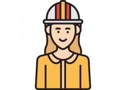 安全帽工人图标