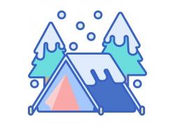 雪屋雪树图标