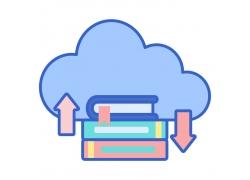 云朵书本图标
