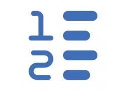 数字条纹图标