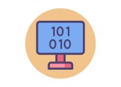 数字电脑图标