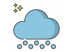 蓝色云朵图标