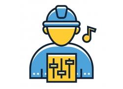 音乐工人图标