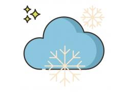 雪花云朵图标