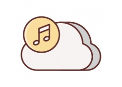 音乐云朵图标