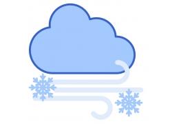 雪花与云朵
