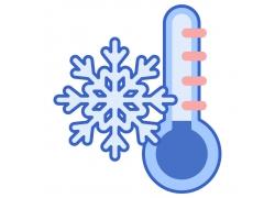 雪花与温度计