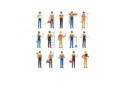 一群建筑工人