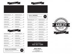 黑色标签菜单