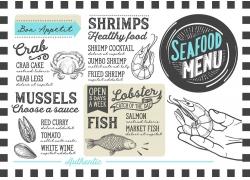 海鲜餐厅菜单