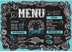 海鱼螃蟹餐厅菜单