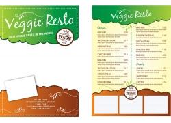 绿褐几何餐厅菜单