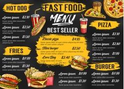 可乐汉堡包餐厅菜单