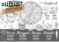 面包披萨餐厅菜单