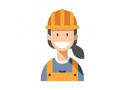 女建筑工人
