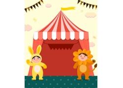 魔术儿童幼儿卡通背景