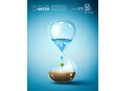 沙漏环境环保公益海报