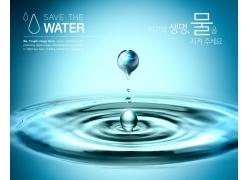 水滴环境环保公益海报