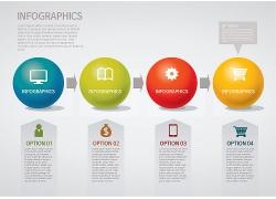 彩色球3D信息图表