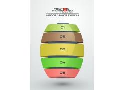 丝带球形3D信息图表
