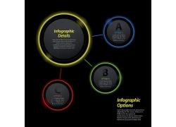 彩色圆圈3D信息图表