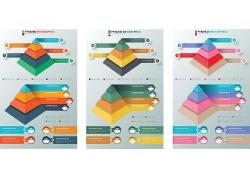 彩色锥形3D信息图表