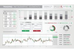股市行情3D信息图表