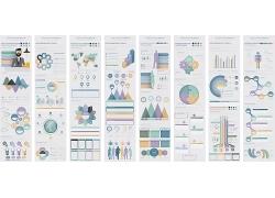 彩色商务元素3D信息图表