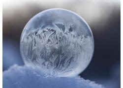 水晶球雪花