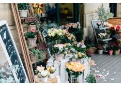 鲜花店一角