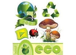 矢量绿色环保海报