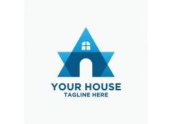 矢量房子标志设计