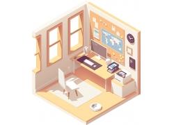 矢量办公室设计